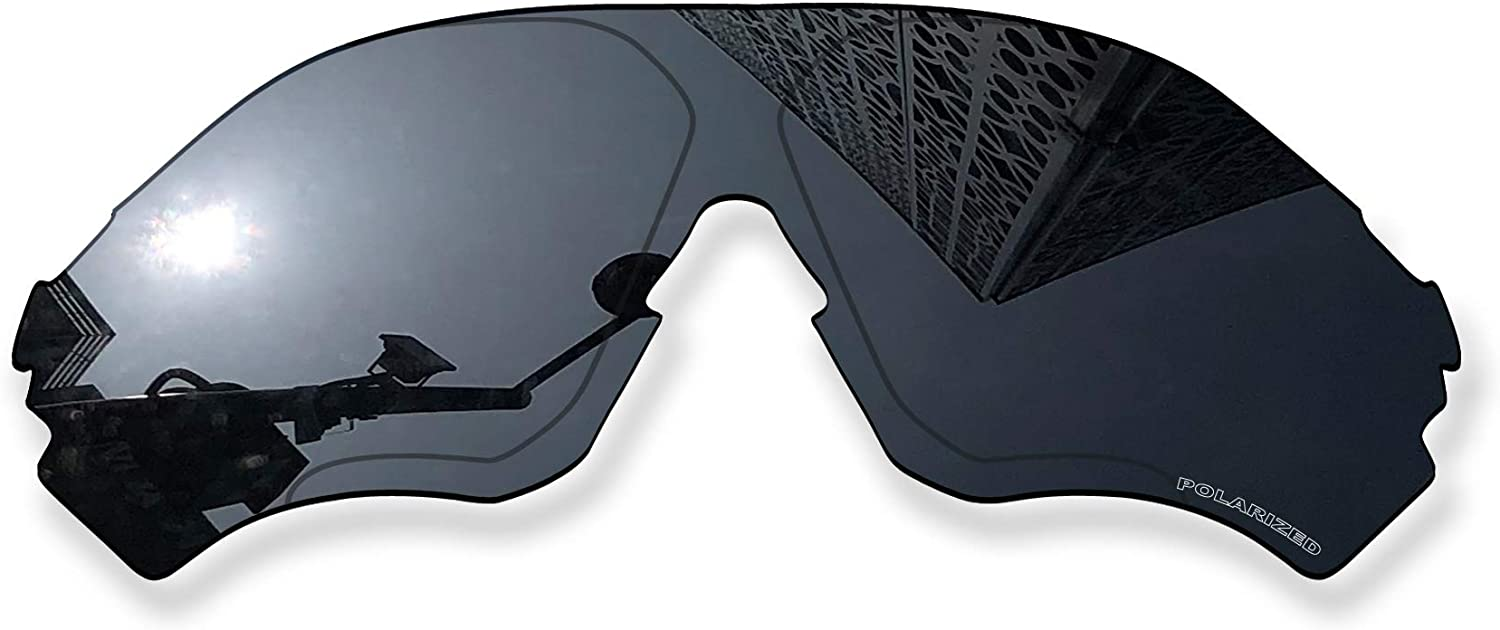 MYCOURAG Anti-Salt Polarized Replacement Lenses Compatible with Oakley EVZero Range OO9327 Sunglass - Solid Black