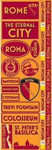Reminisce PSP-156 Rome Passports Die-Cut Stickers 4.25 x 12 Sheet