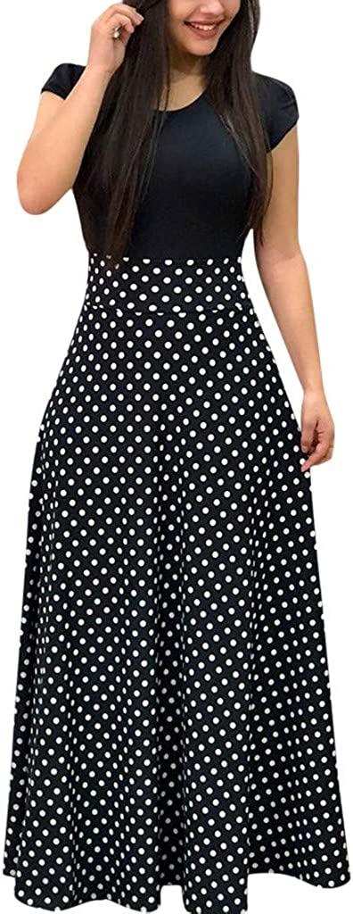 TOTOD Women Women's Chiffon Print Bohemian Wrap Long Sleeve Maxi Dress