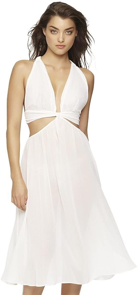 Jezebel Women's Luna Chiffon & Satin Goddess Tea Length Gown