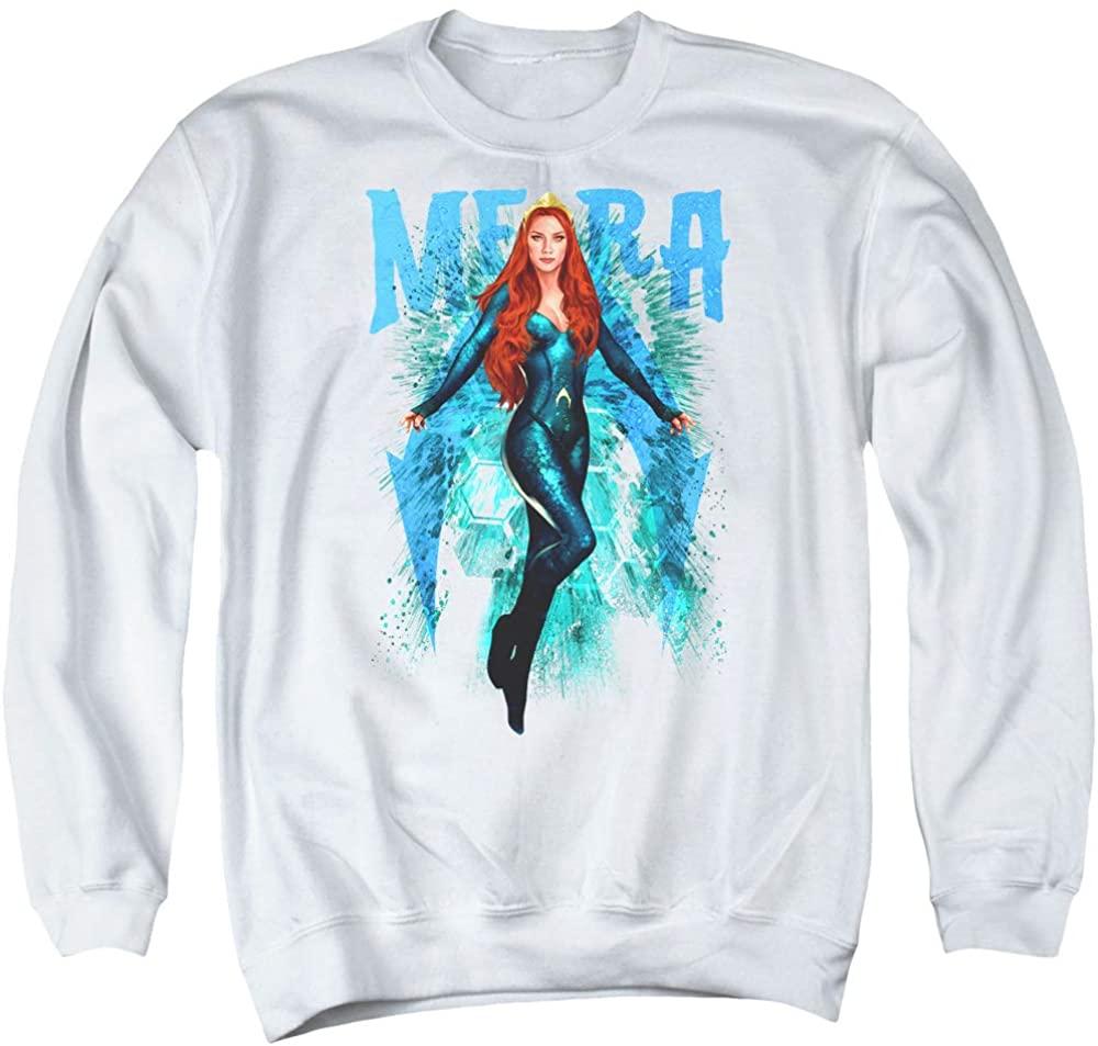A&E Designs Aquaman Movie Sweatshirt Mera White Pullover