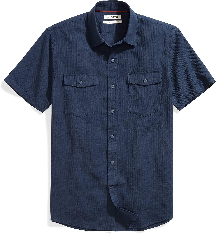 DHgate Brand - Goodthreads Men's Standard-Fit Short-Sleeve Ripstop Dobby Shirt