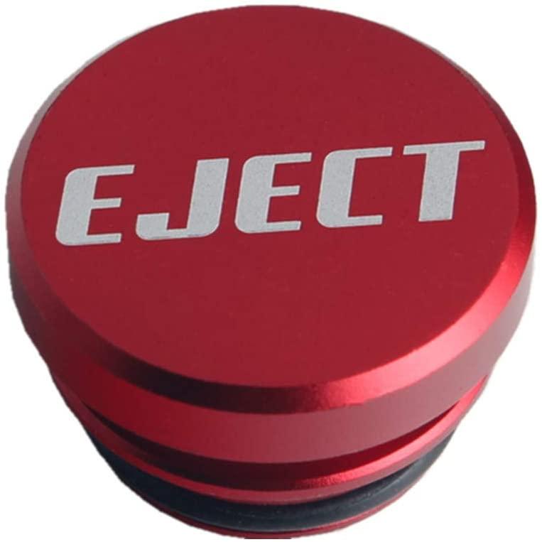 DEWHEL Universal Eject Cigarette Lighter Plug Cover Aluminum For Standard 12V (Red)