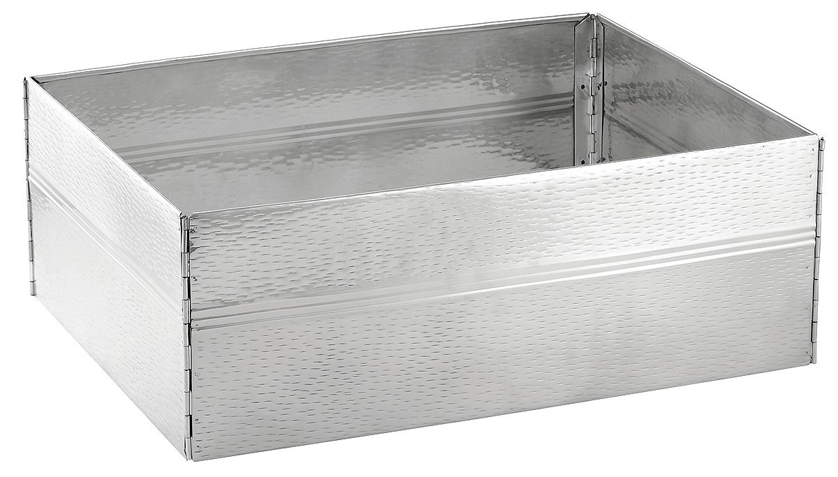 TableCraft Products RS1537 Tote Box Cover, Stainless Steel, 22