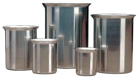 Rolled Beaker, 1-1/4 qt, Stainless Steel