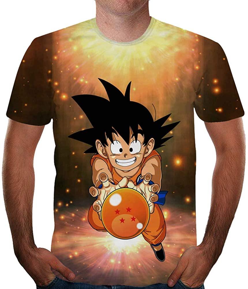 Johoproce Unisex 3D Print Anime Cartoon Graphic T Shirt Fashion Men's Anime Chic Short Tee