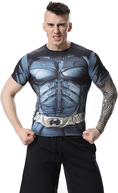 Red Plume Men's Sonic Compression Shirt Sports Fitness Armor Bat T-Shirt Sport Long Sleeve for Men