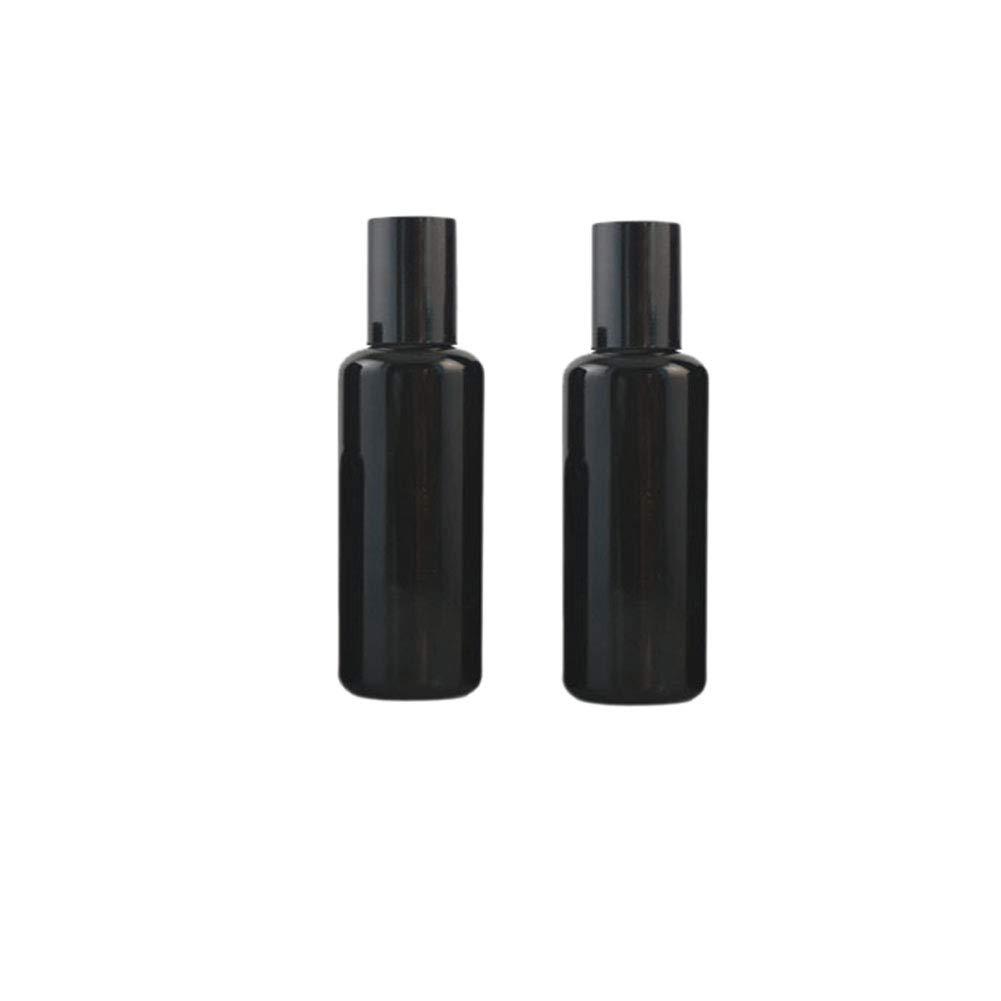 Pack of 2 Black Ultraviolet Roll On Bottles,Essential Oils Roller Bottles with Stainless Steel Roller Ball Glass Sample Vials Travel Roller Bottles … (50ml)