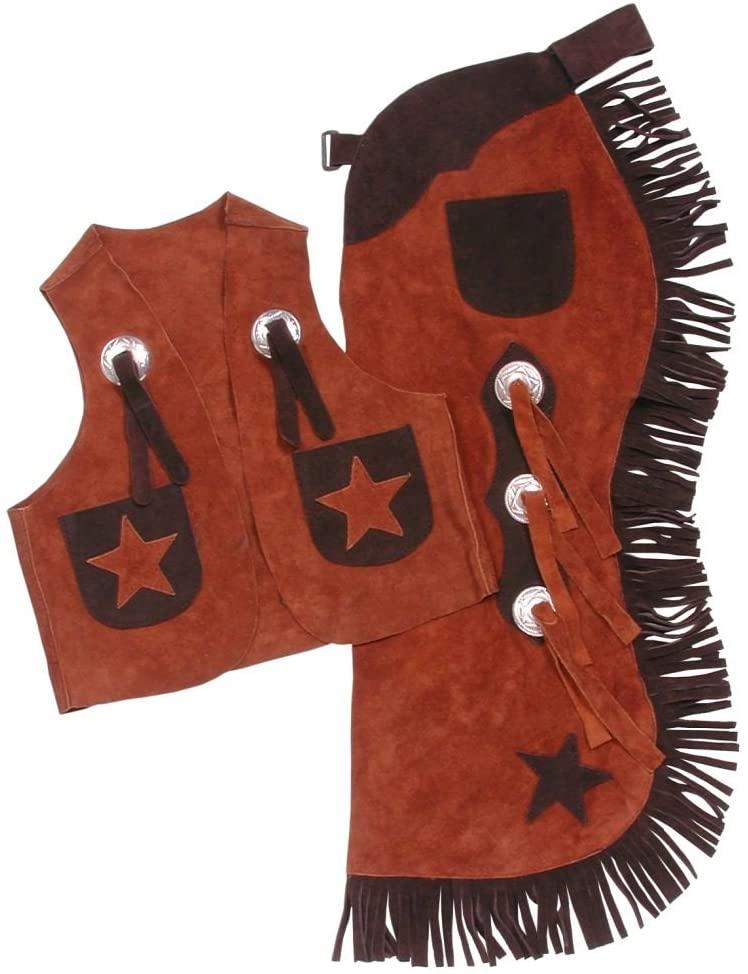 Tough-1 Youth Vest and Chap Set 21/Rust M
