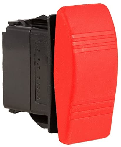 K4 ON-OFF-ON Contura III Sealed Switch W/Soft Touch Red Actuator