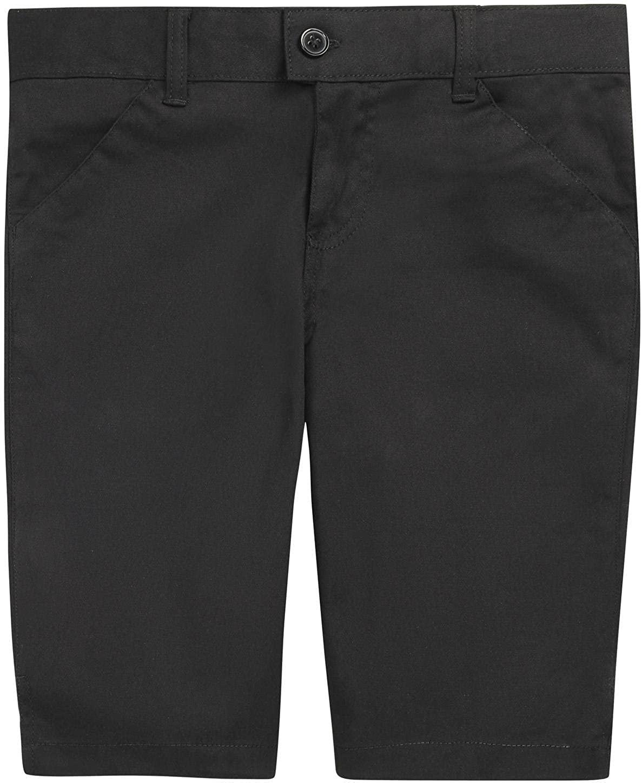 French Toast School Uniform Girls Bermuda Shorts, Black, 6X
