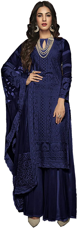 Stylish Ethnic Indian Traditinal Partywear Embroidery Work Salwaar Kameez. ICW2858-3
