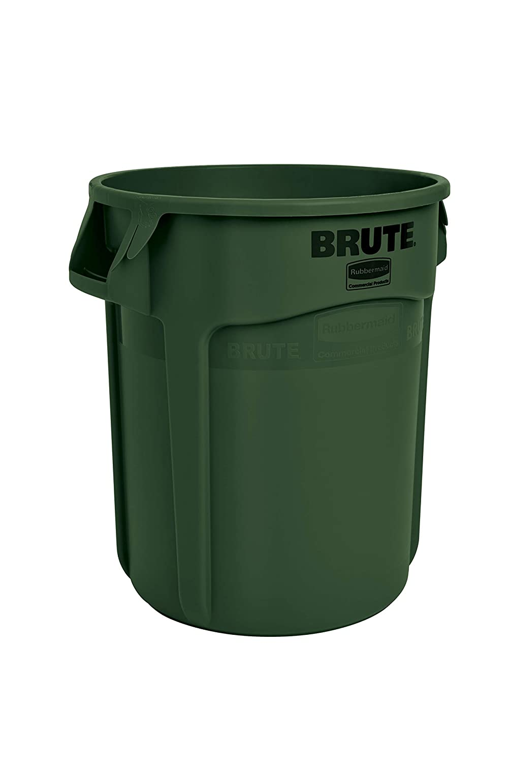 Rubbermaid Commercial Products FG261000DGRN BRUTE Heavy-Duty Round Trash/Garbage Can, 10-Gallon, Green
