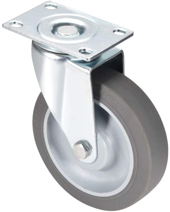 uxcell Swivel Caster Wheels 4 inch TPR Caster Top Plate Mounted 242lb Capacity