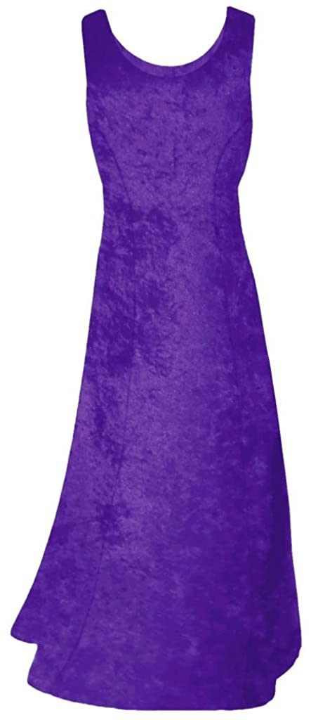 Sanctuarie Designs Dark Purple Crush Velvet Princess Cut Tank Plus Size Supersize Maxi Dress