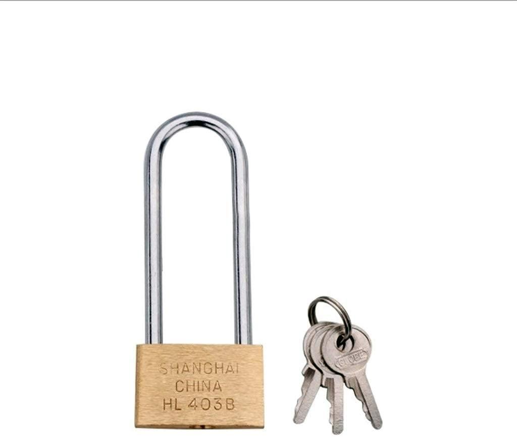 XUE XUEJIONG Copper Padlock Small Lock, Style: Long Lock Beam, 30mm Not Open XUE
