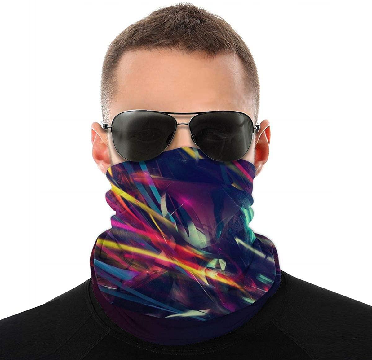 Magic Scarf Elastic Headband Multi-Purpose Headwear Bandanas Sun UV dust and wind Protection Colorful Neck Gaiter for Men and Women 3 Pcs
