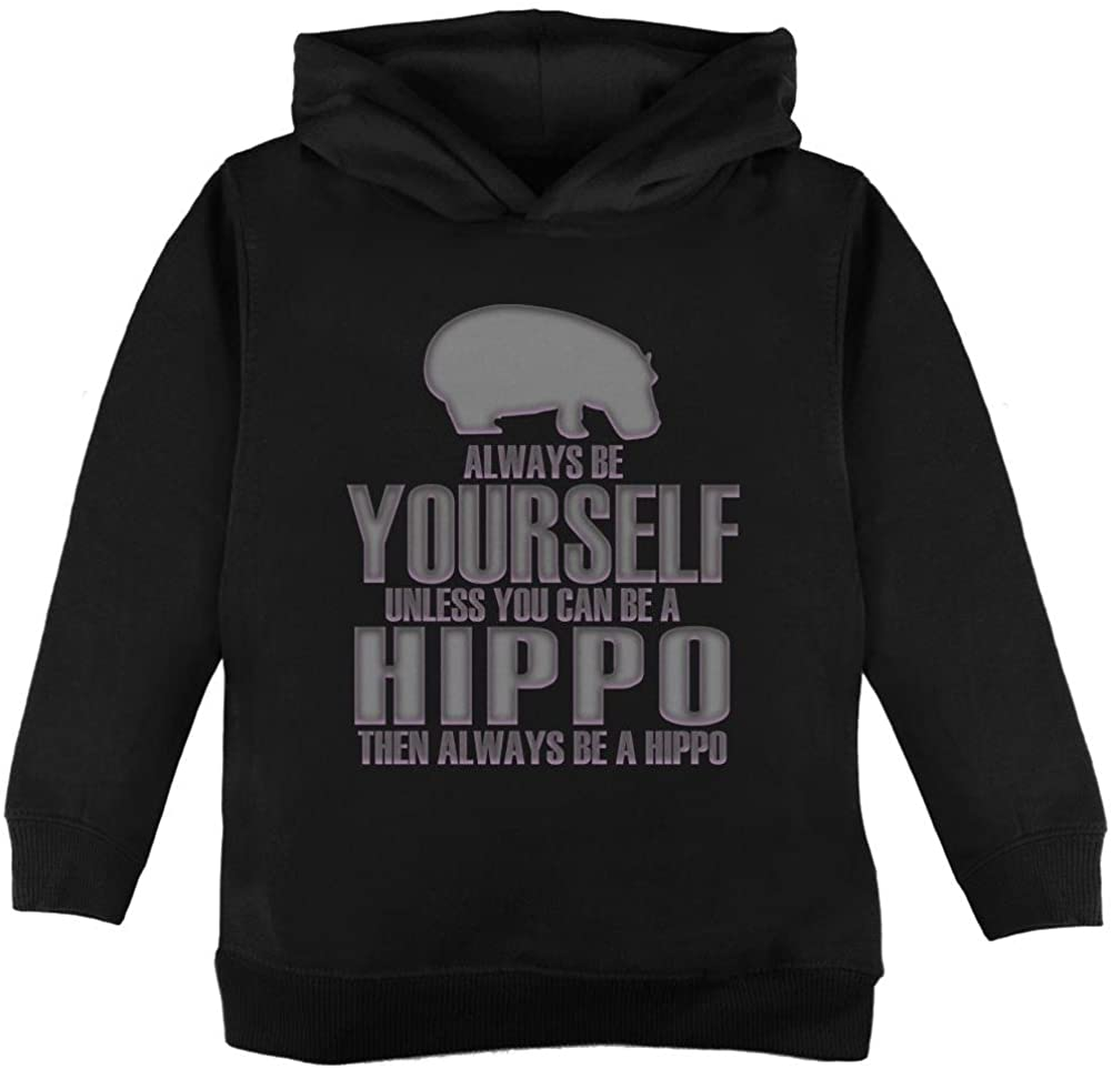 Old Glory Always Be Yourself Hippo Toddler Hoodie