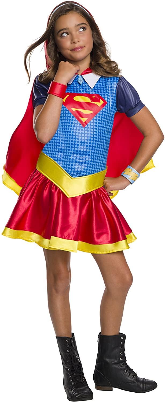Rubie's DC Super Hero Girls Hoodie Dress Childrens Costume, Supergirl, Small