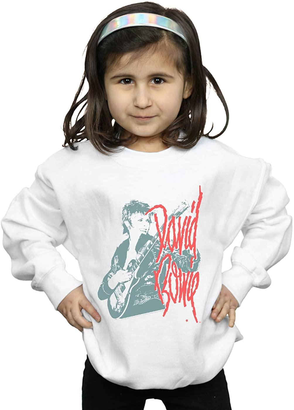 ABSOLUTECULT David Bowie Girls Mono Guitar Sweatshirt