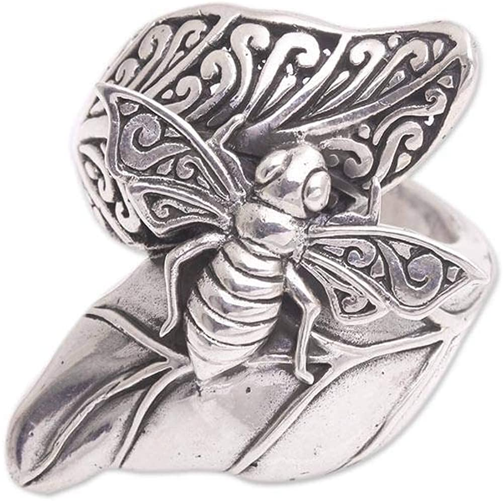 NOVICA .925 Sterling Silver Cocktail Ring, Bee Grove'
