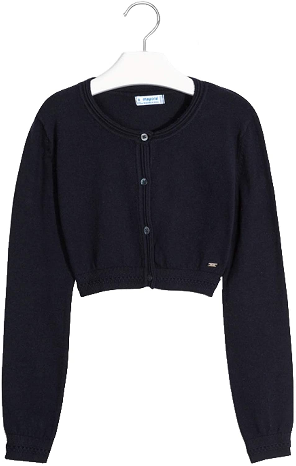 Mayoral - Basic Knitted Cardigan for Girls - 0326, Navy