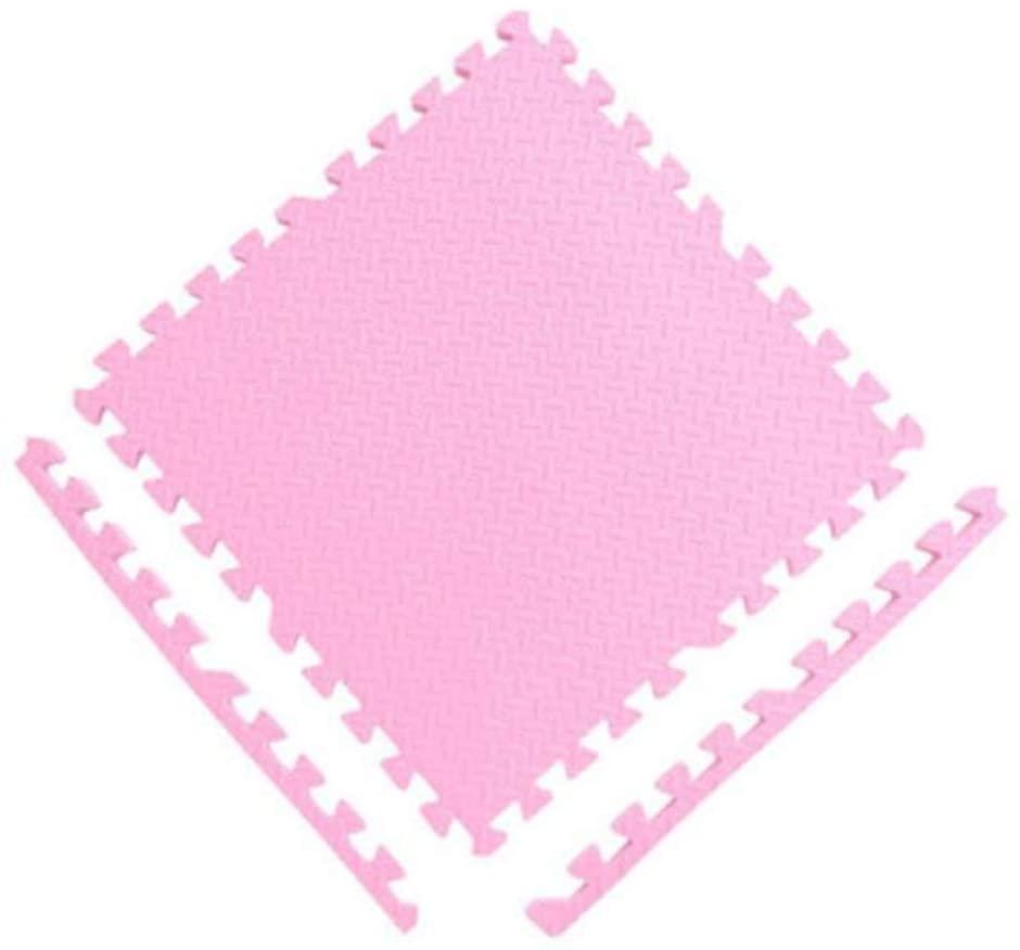 Fvdsghdf Spliced Foam Floor mat, Soft EVA Foam Baby Game Floor mat, Anti-Slip and Anti-Fall Baby Crawling mat, 60 60 2.5cm (Color : Pink, Size : 18pc)