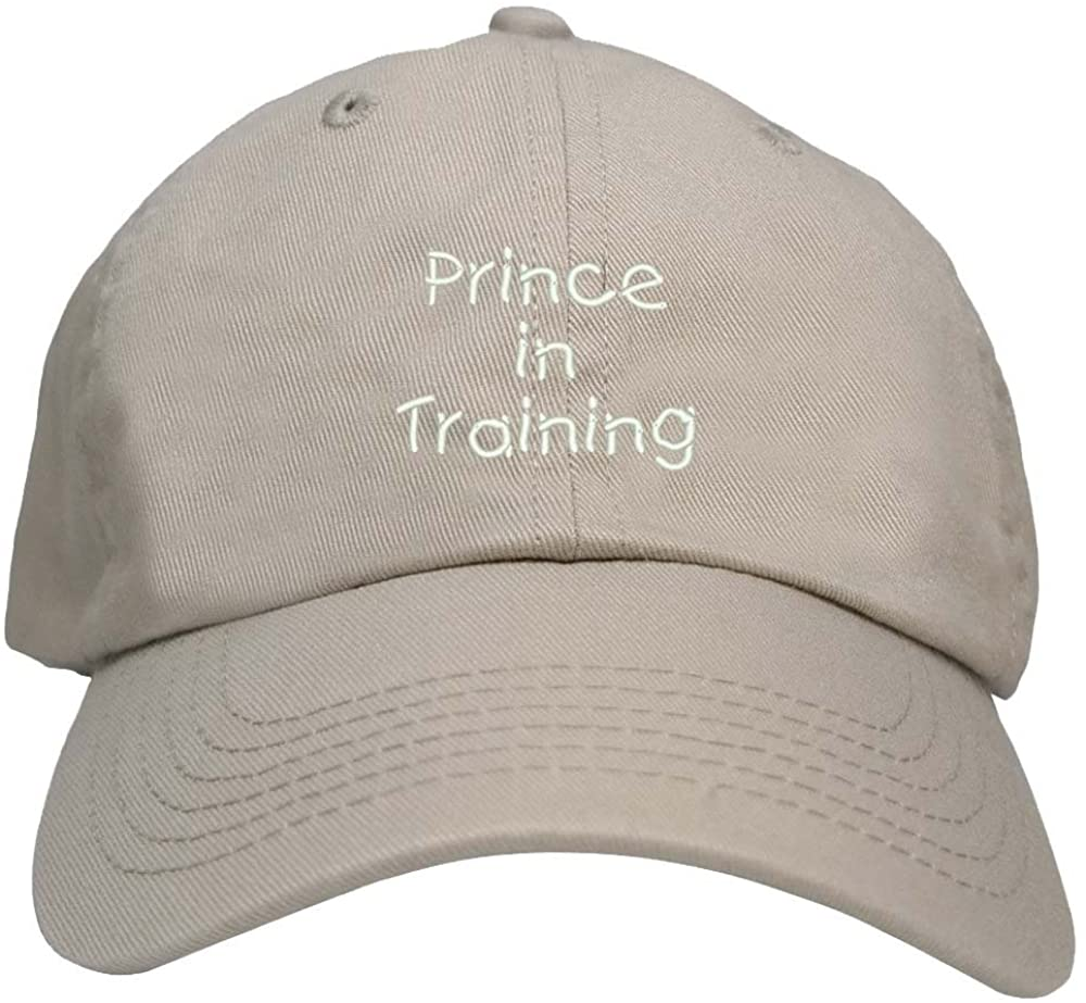 Trendy Apparel Shop Prince in Training Embroidered Youth Size Cotton Baseball Cap