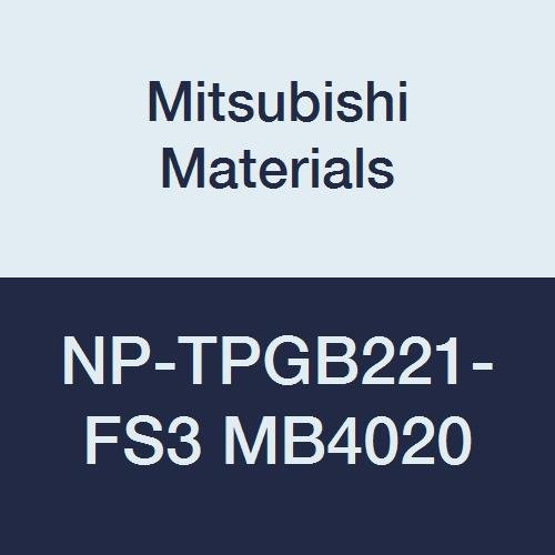 Mitsubishi Materials NP-TPGB221-FS3 MB4020 CBN TP Type Petit Tip Pos. Turning Insert with Hole, General Cutting Grade MB4020, FS Honing/No Wiper, 3 Tip, 0.016