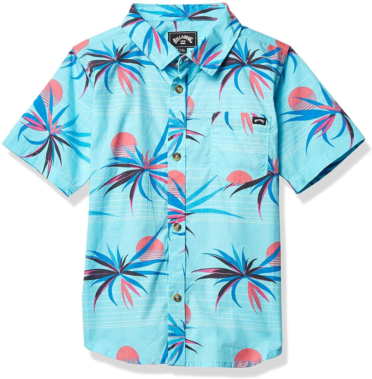 Billabong Boys Sundays Floral Short Sleeve Woven Shirt