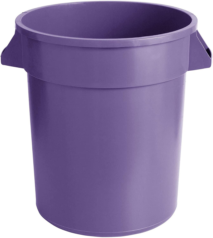 2 Pack! 20 Gallon / 75 Liters Purple Round Commercial Trash Can/Ingredient Bin. Trash Container. Trash Bucket. Garbage Bin. Waste Bin. Home Trash Can. Commercial Waste bin