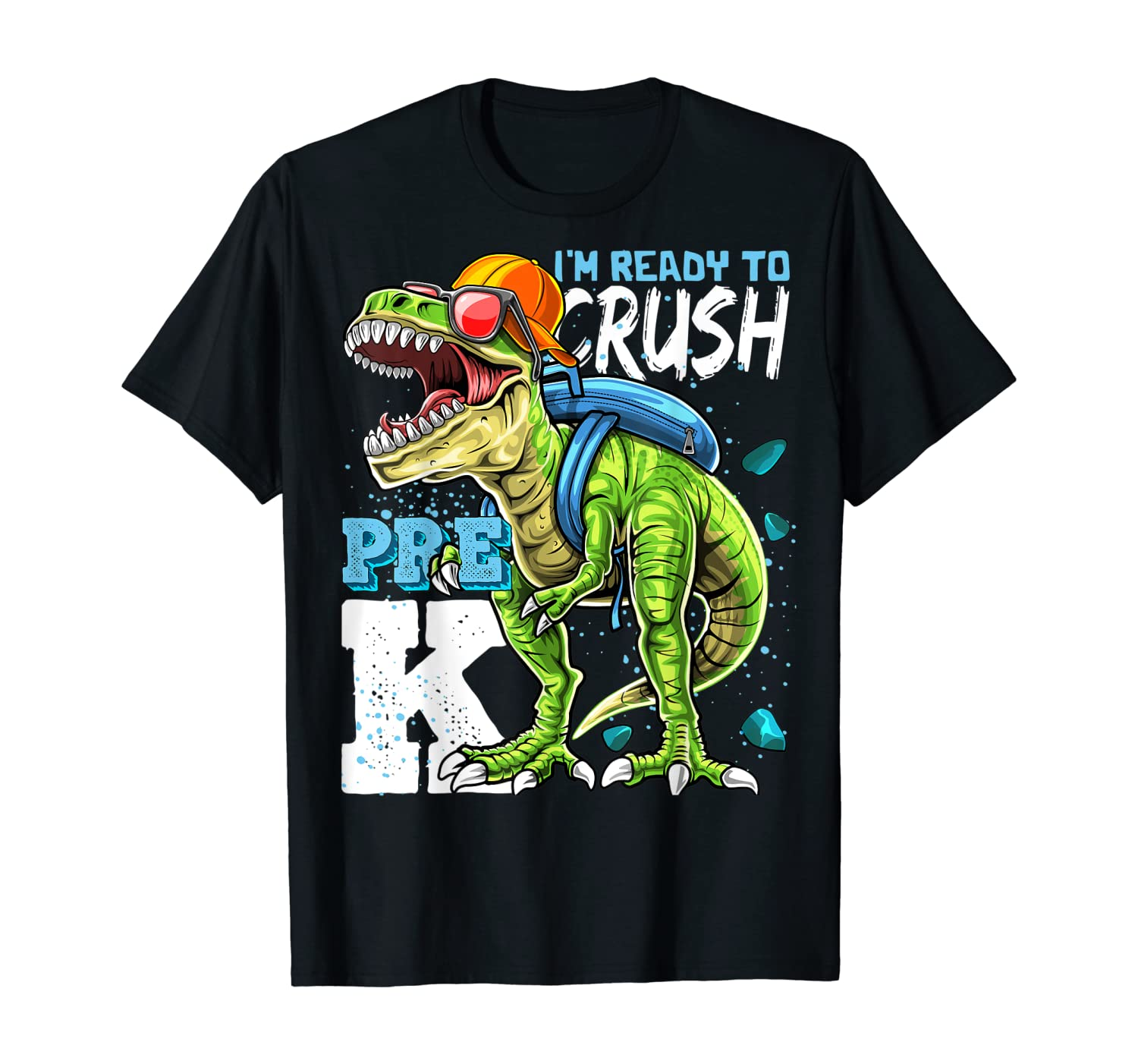 Ready To Crush Pre-K T Rex Dinosaur Back to School Boys Gift T-Shirt