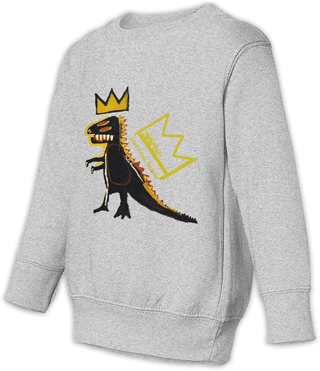 BodiGulick Jean-Michel Basquiat Boys and Girls Sweatshirts, Cotton Sports Tops Sweatshirt Black