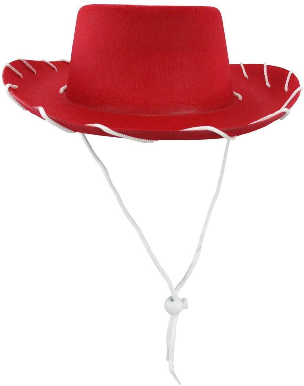 Nicky Bigs Novelties Child Western 1950's Style Kids Cowboy Ranch Hat, Red, One Size