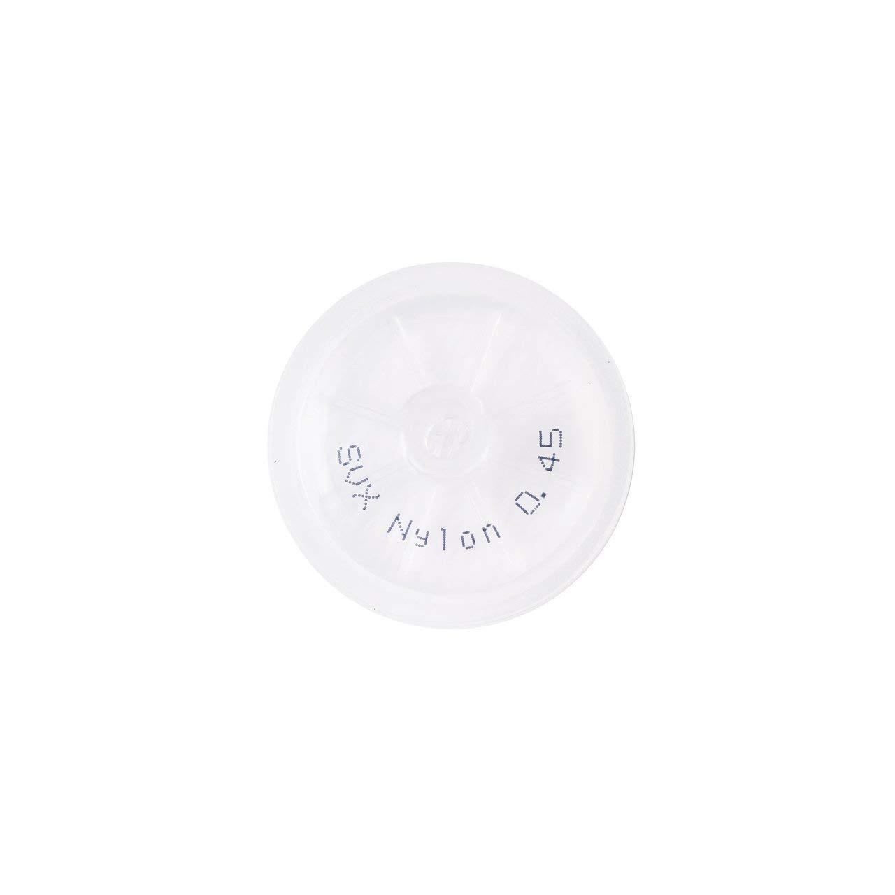 Nylon Syringe Filter, 0.45um, 25mm, 10/pk