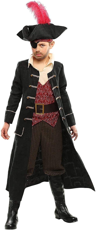 Kid's Pirate Captain Costume Ship Captain Costume for Kids