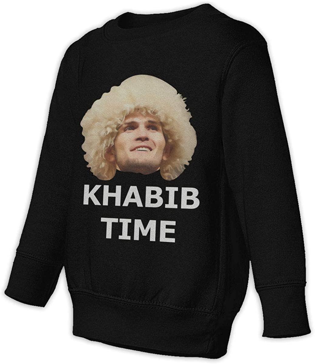 Manbeak Khabib Time Khabib Nurmagomedov Unisex Sweatshirt Youth Boy and Girls Pullover Sweatshirt Black
