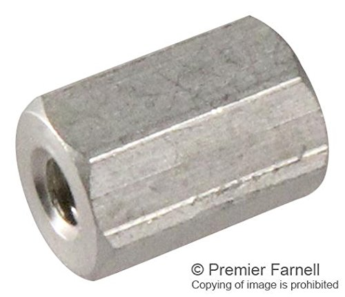 KEYSTONE 2202 SPACER/STANDOFF, HEX, AL, 6.4MM X 9.5MM