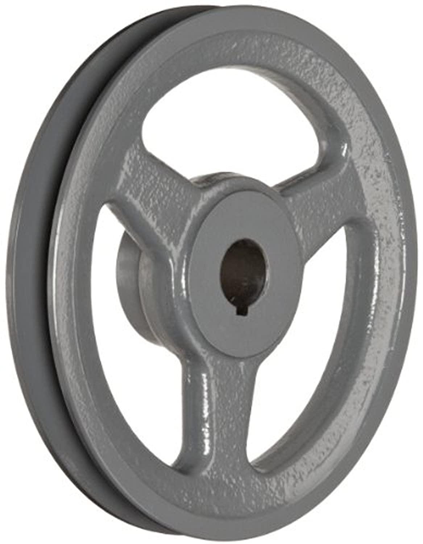 SPA 190X1-CI Ametric Metric Cast Iron V Belt Pulley, for SPA Profile V-Belt, 1 Groove, 190 mm Pitch Diameter, (Mfg Code 1-033)