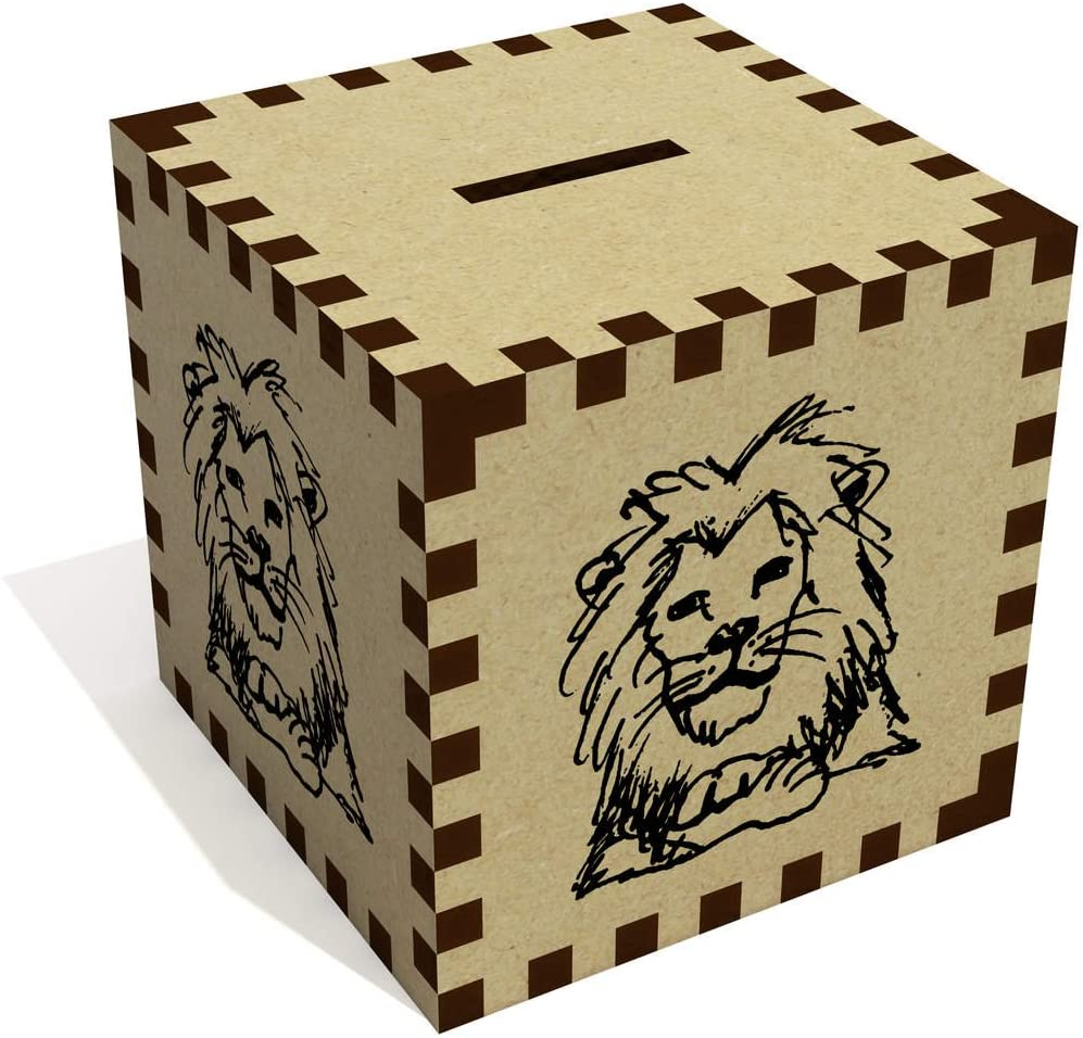 Azeeda 'Resting Lion' Money Box / Piggy Bank (MB00037423)