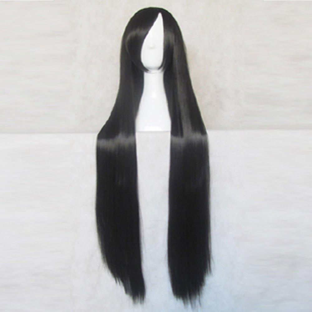 Unbreakable Machine-Doll Yaya Black 100CM Long Cosplay Wig + Free Wig Cap