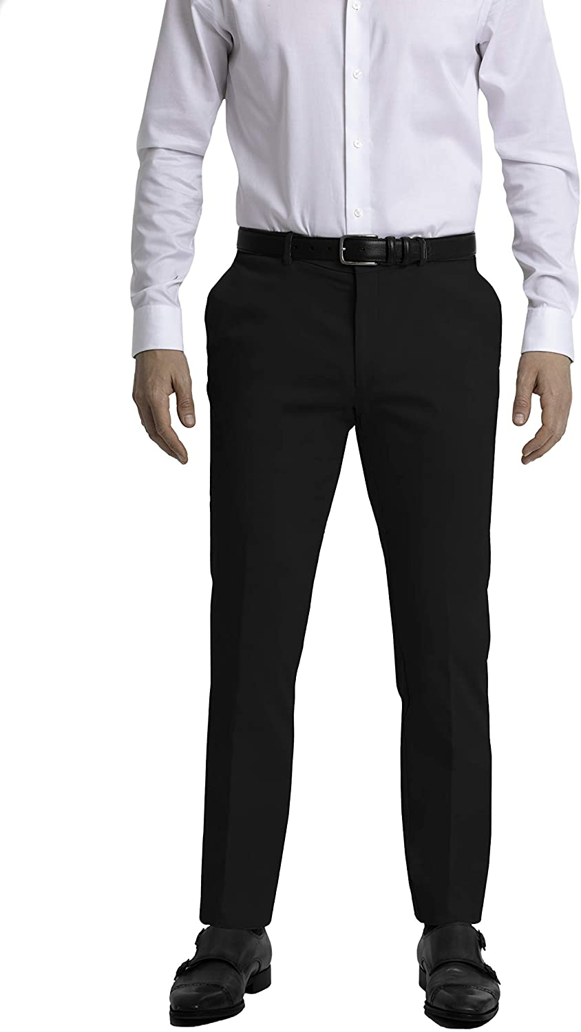 Tommy Hilfiger Men's Big and Tall Stretch Comfort Dress Chino with Expandable Waist, black, 48W x 30L
