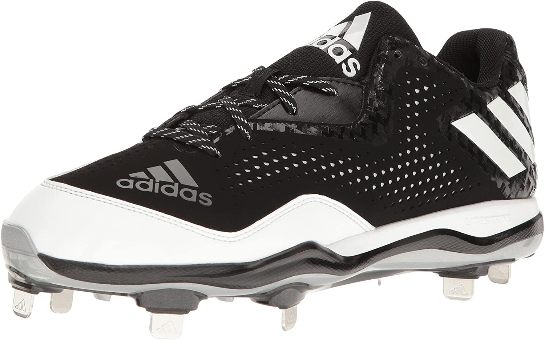 adidas Mens PowerAlley 5 Mid Baseball Shoe