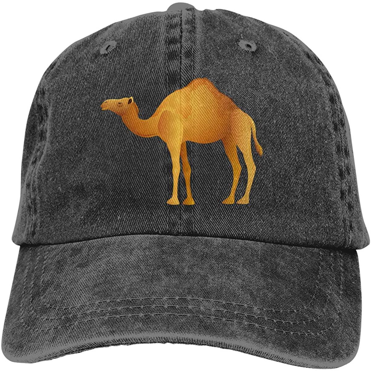 Camel Unisex Baseball Cap Cotton Cowboy Style Cap Sun Hat