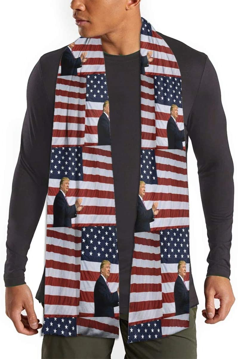 NOT American Flag Winter Imitation Cotton Scarf