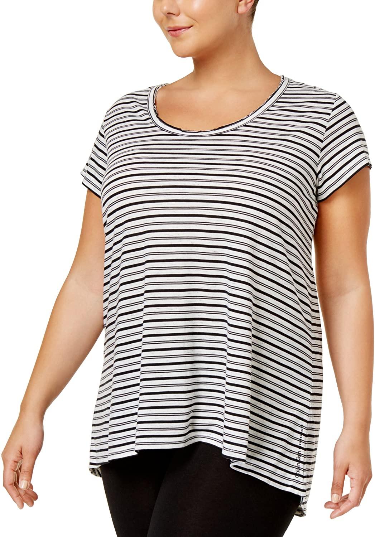 Calvin Klein Performance Women's Plus Size Striped T-Shirt