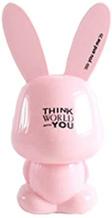 Xiaokeai Money Banks Cartoon Rabbit Piggy Bank Cute Resin Coin Box Saving Money Box Piggy Banks (Color : Pink)