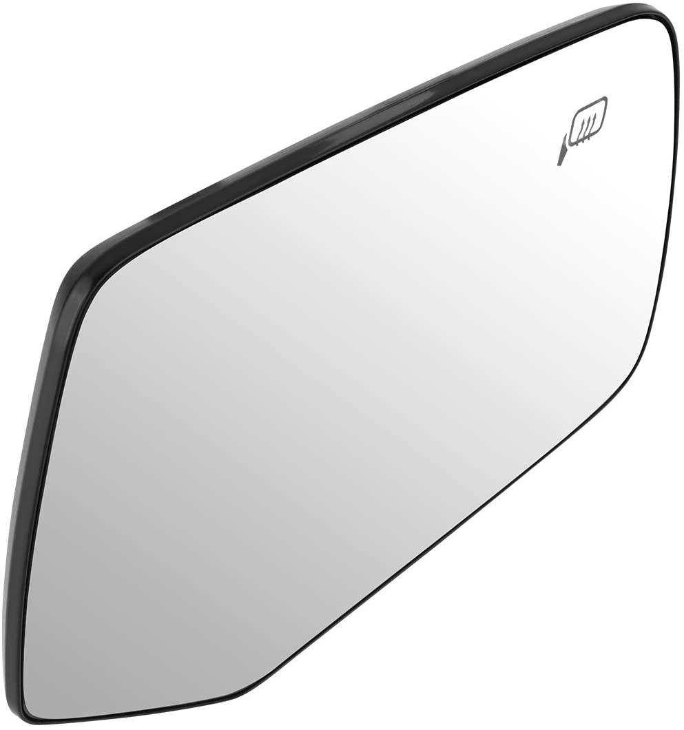 DNA MOTORING OEM-MG-0158 8L8Z17K707F Factory Style Right Side Heated Mirror Glass, Silver