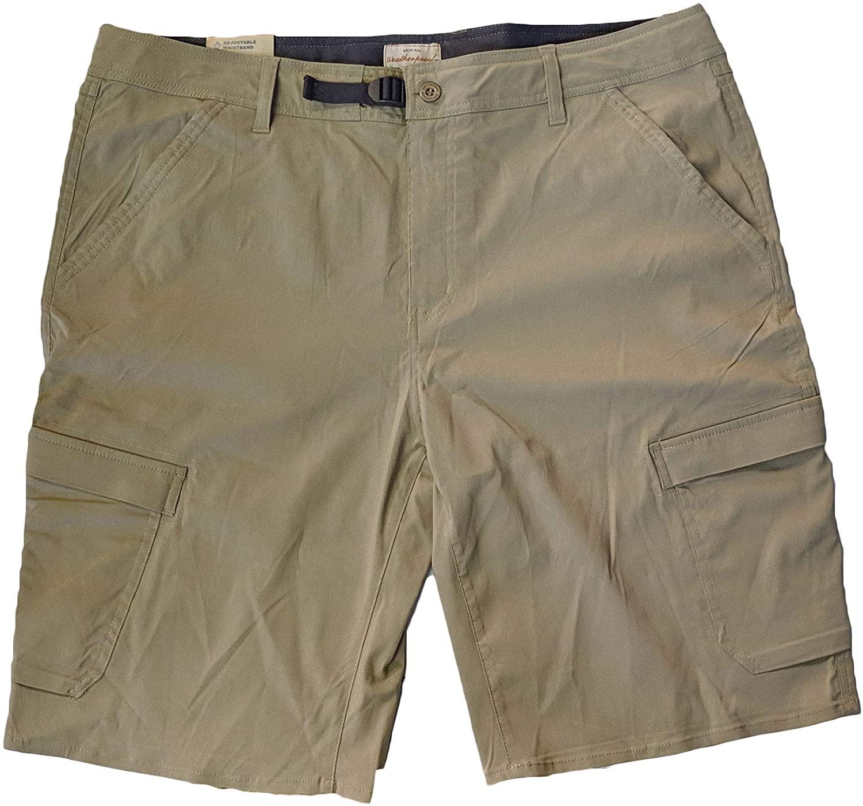 Weatherproof Vintage Mens Comfort Stretch Utility Cargo Shorts Adjustable Belt