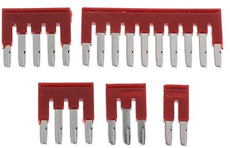 Davitu Terminals - FBS10-5/FBS4-5/FBS5-5/FBS2-5/FBS3-5 Spring 2.5-3L DIN Rail Terminal Blocks 2-5 Plug-in Bridge for ST2.5 STTB Amphenol Connector - (Pins: 10)
